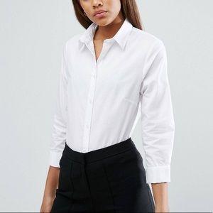 ASOS Tall 3/4 sleeve white shirt
